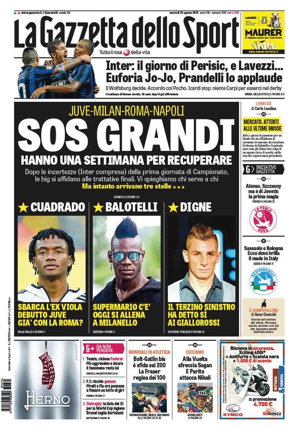 La Gazzetta dello Sport | 25 agosto 2015