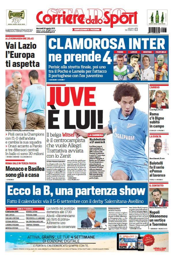 Corriere dello Sport | 26 agosto 2015