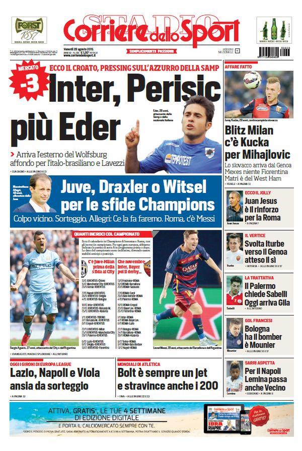 Corriere dello Sport | 28 agosto 2015