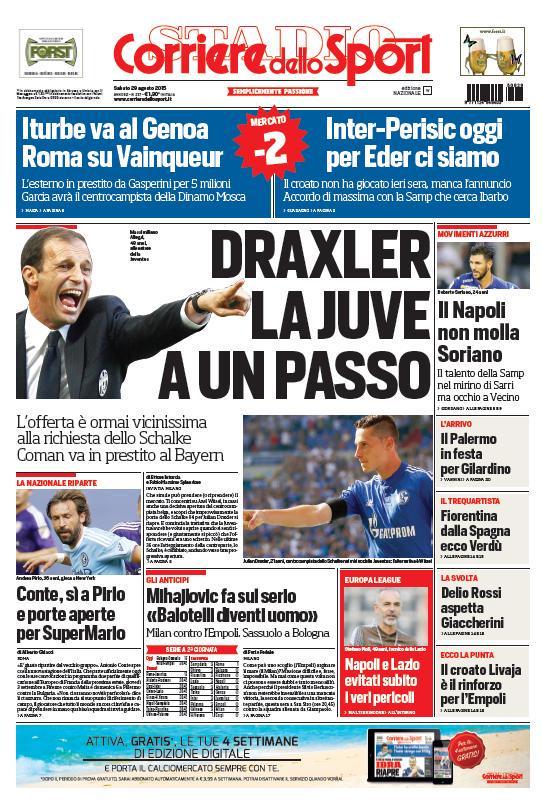 Corriere dello Sport | 29 agosto 2015
