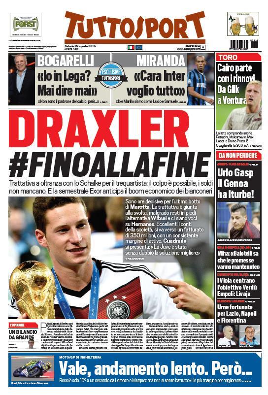 Tuttosport | 29 agosto 2015