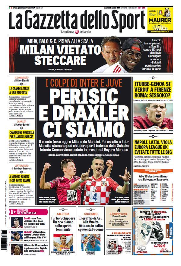 La Gazzetta dello Sport | 29 agosto 2015