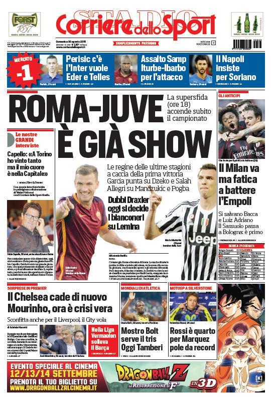 Corriere dello Sport | 30 agosto 2015