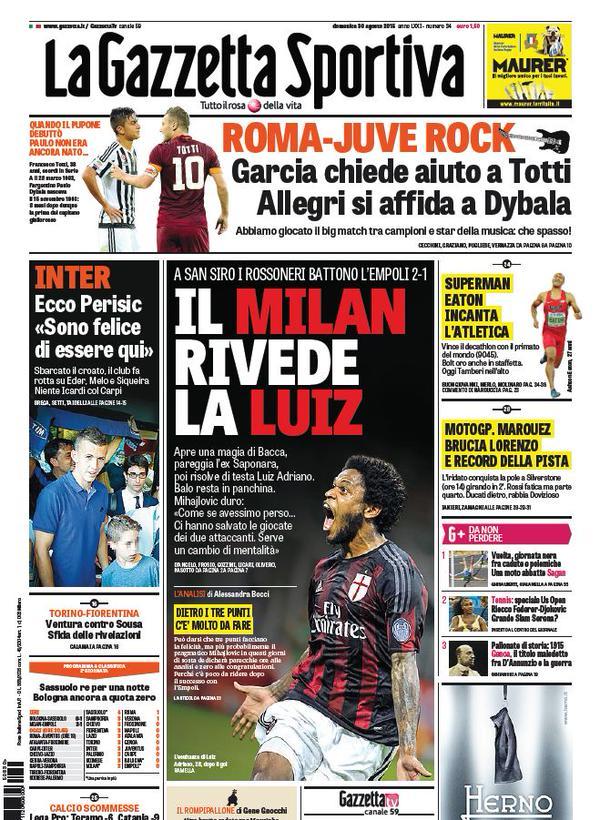 La Gazzetta dello Sport | 30 agosto 2015