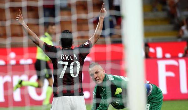 Bacca in Milan-Empoli 2-1