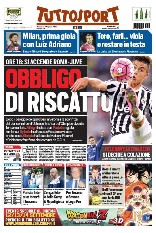 Tuttosport | 30 agosto 2015