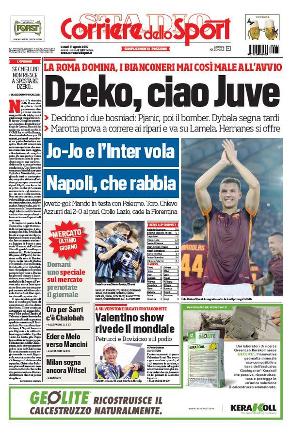 Corriere dello Sport | 31 agosto 2015