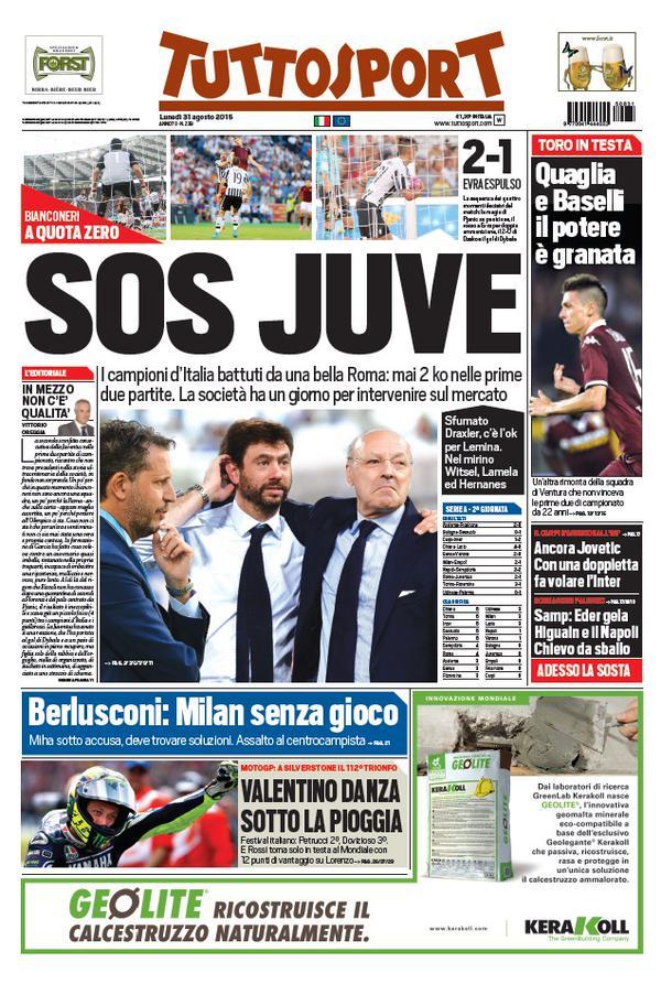 Tuttosport | 31 agosto 2015