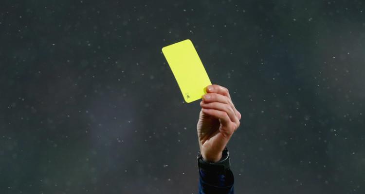 Cartellino giallo, Serie A