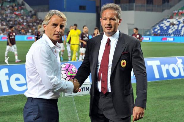 Mancini e Mihajlovic in Milan-Inter 2-1, Trofeo TIM