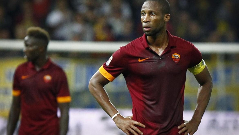 Seydou Keita con la maglia della Roma