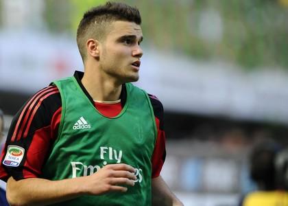 Giacomo Beretta con la maglia del Milan