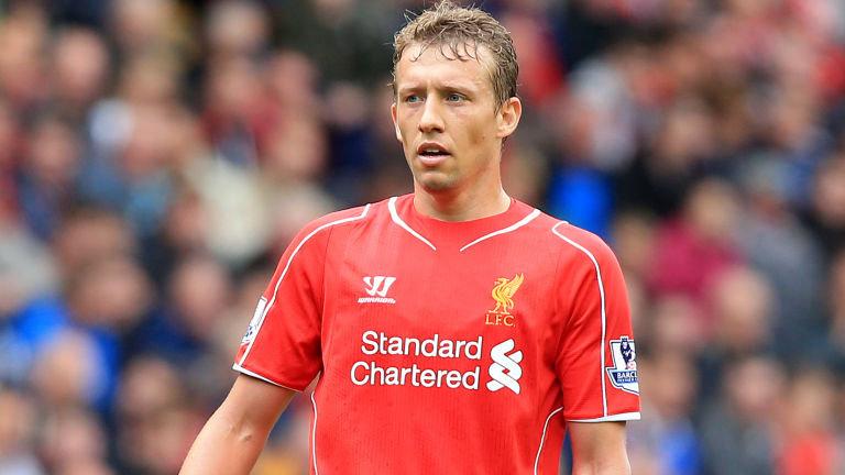 Lucas Leiva, centrocampista del Liverpool