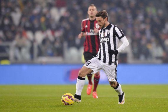 Marchisio in azione contro il Milan, 2014-2015