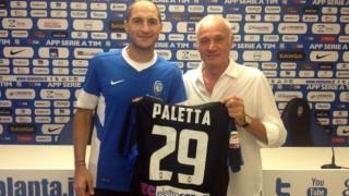 Gabriel Paletta con la maglia dell'Atalanta
