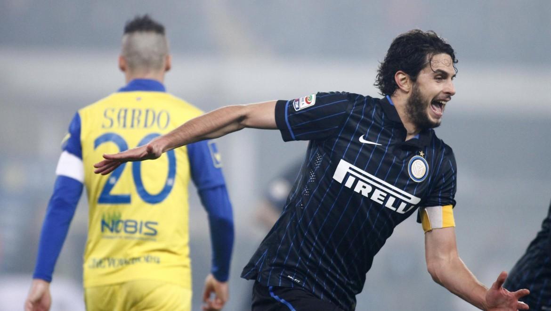 Ranocchia esulta per un gol in Chievo-Inter