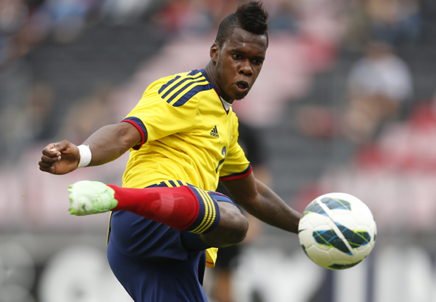 Jherson Vergara con la maglia della Colombia