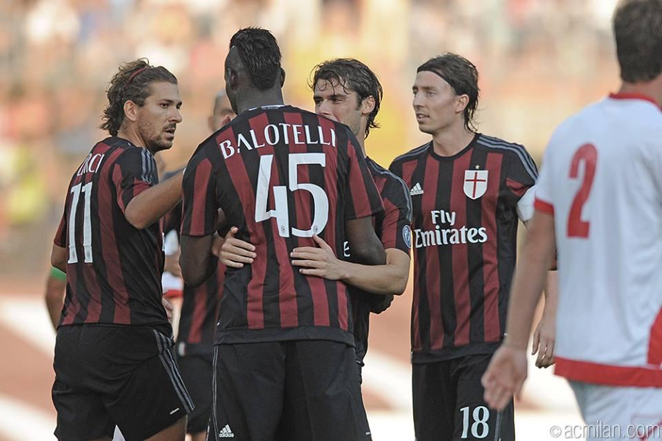 Balotelli in Mantova-Milan 2-3