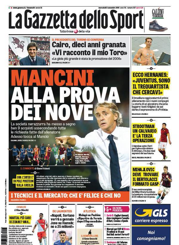 La Gazzetta dello Sport | 2 settembre 2015