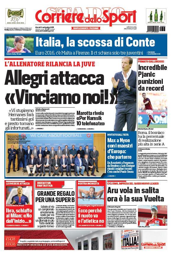 Corriere dello Sport | 3 settembre 2015