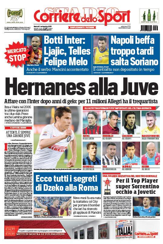Corriere dello Sport | 1 settembre 2015