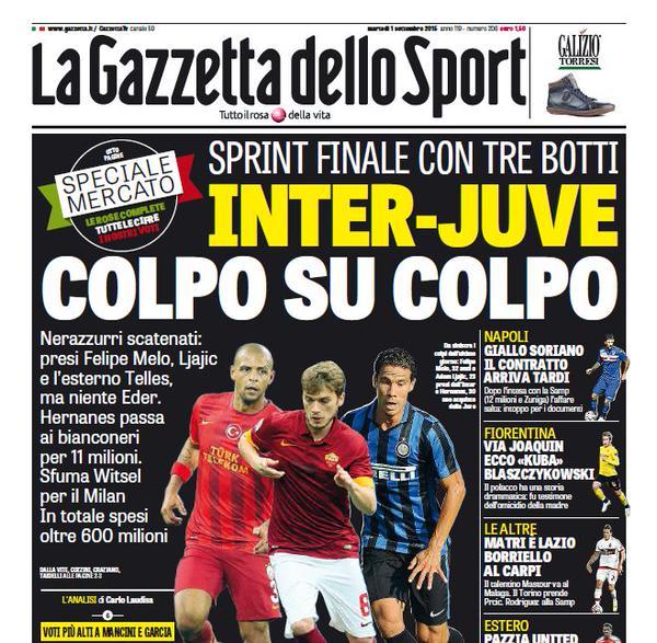 La Gazzetta dello Sport | 1 settembre 2015