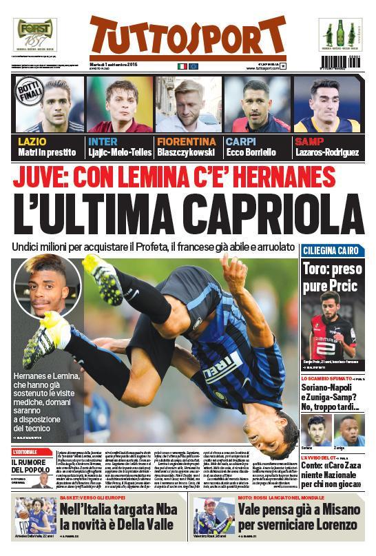 Tuttosport | 1 settembre 2015