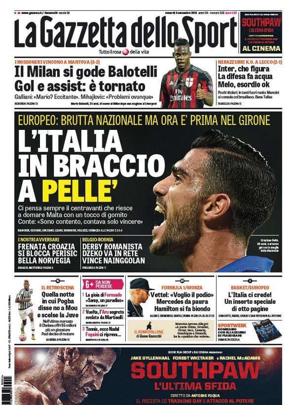 La Gazzetta dello Sport | 4 settembre 2015