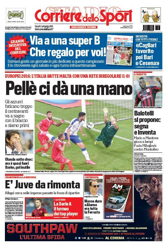 Corriere dello Sport | 4 settembre 2015