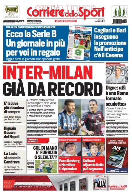 Corriere dello Sport | 5 settembre 2015