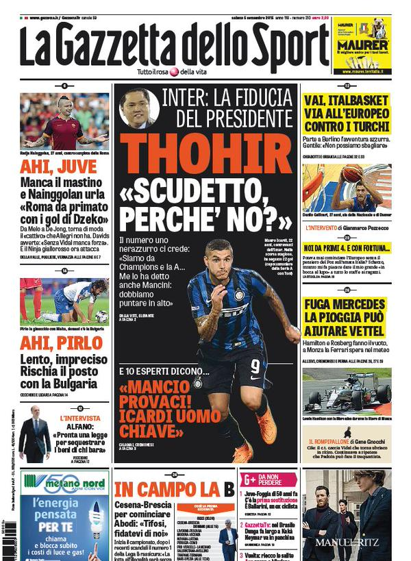 La Gazzetta dello Sport | 5 settembre 2015