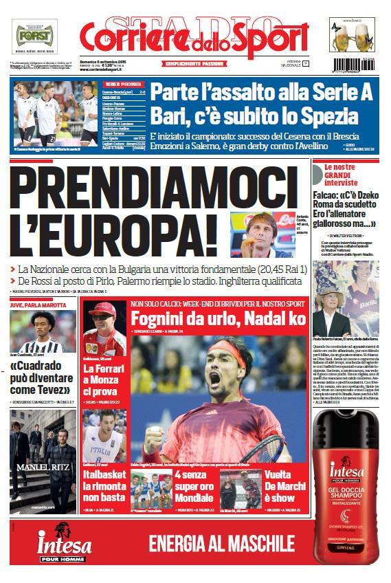 Corriere dello Sport | 6 settembre 2015