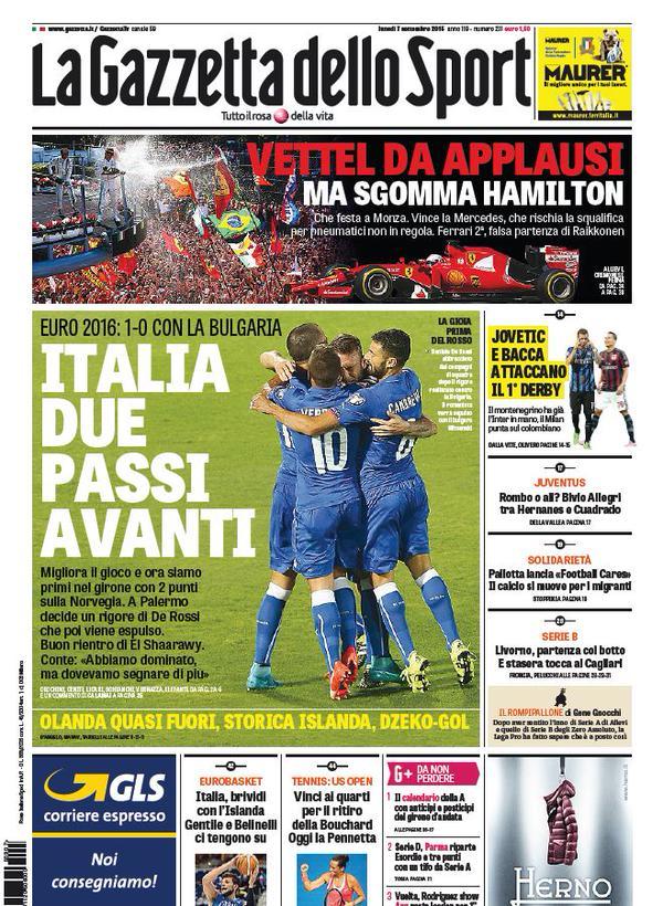 La Gazzetta dello Sport | 7 settembre 2015