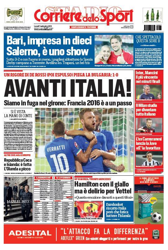 Corriere dello Sport | 7 settembre 2015