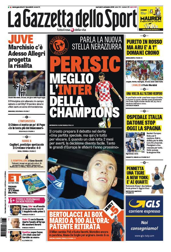 La Gazzetta dello Sport | 8 settembre 2015