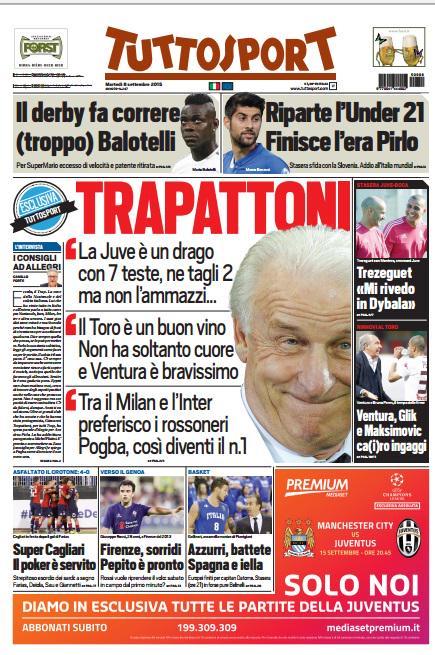 Tuttosport | 8 settembre 2015