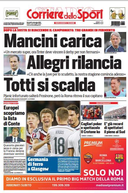 Corriere dello Sport | 8 settembre 2015