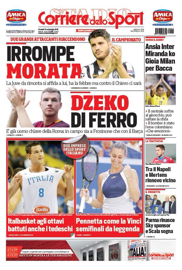 Corriere dello Sport   10 settembre 2015