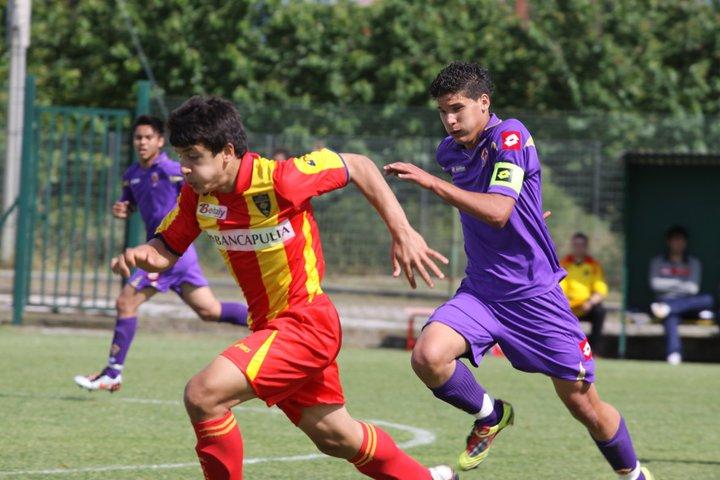 Yuri Meleleo in azione con le giovanili del Lecce