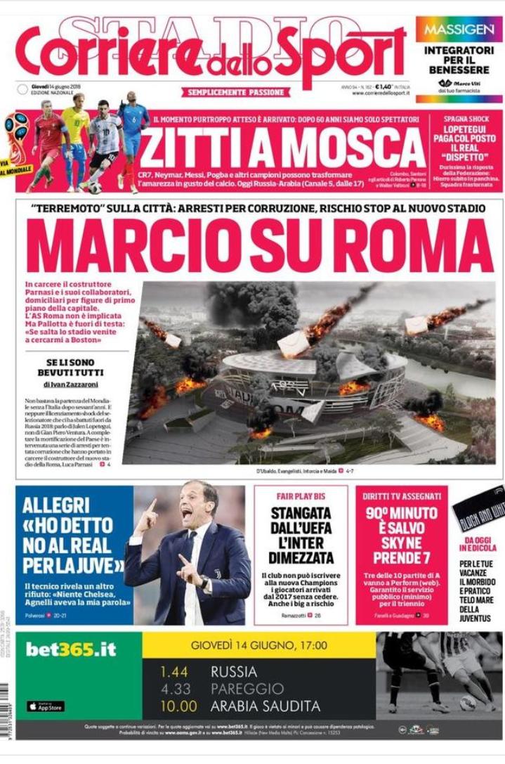 Rassegna Marcio Su Roma 9 Arresti Lo Stadio Della Roma Rischia Di Saltare Milancafe24 Com Notizie E Risultati In Diretta Sul Mondo Del Milan