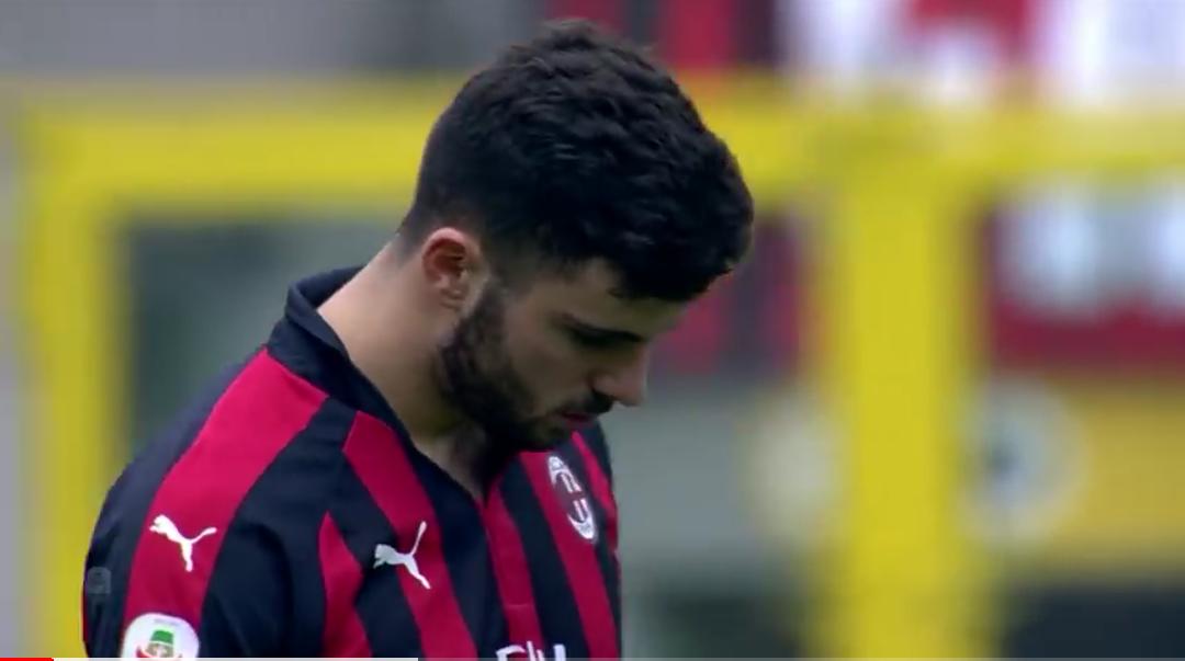 Milan-Parma, la vignetta dello splendido gol di Cutrone